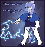 Blue Lace Agate (Holly Blue Agate+Angelite Fusion) by AccursedAsche
