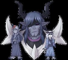 Moulot, Sybilon, and Vindaego (Gift) by AccursedAsche
