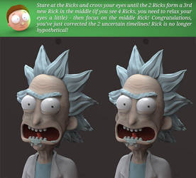 See Rick in 3D! Fix the Uncertainty! by juzmental
