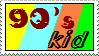 90's Kid Stamp by bobbyobeirne