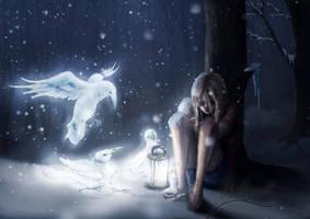 Frozen Angel by littlevillagewolf