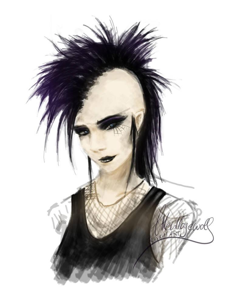 Deathrock girl by littlevillagewolf