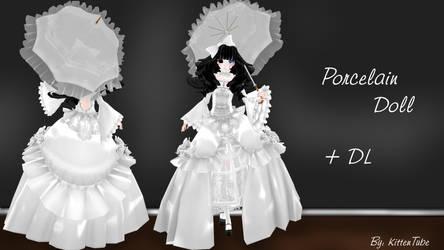 Porcelain Doll + DL [MMD] -Halloween Special- by CurryKitten