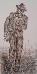 Old street jazzman .... by MC-blue