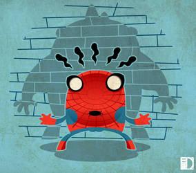 Spiderman cartoon by spundman