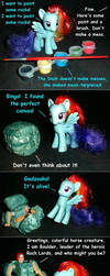 Rainbow Dash Paints A Rock by kramwartap