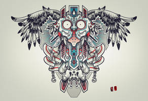 mask bird print by RemiisMeltingDots