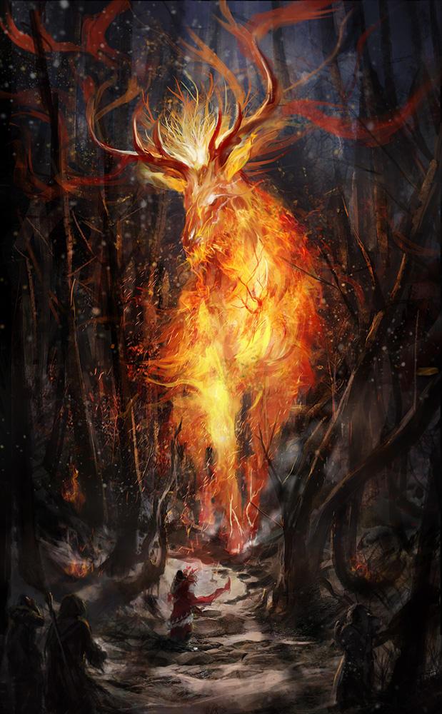 Fire Elemental by DrawingNightmare