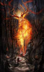 Fire Elemental by DrawingNightmare