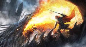 Dragonrider by DrawingNightmare