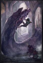 Abaddon:  Monsterbattle by DrawingNightmare