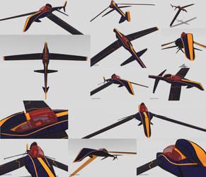Racer Jet (VR) - Turnaround by moooncube