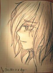 Crying boy by Kallifenia