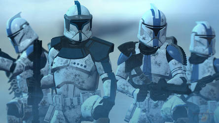 ARC Lieutenant And 501st Clone Trooper Phase One by TerritoryTunguska