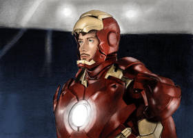 Tony Stark. In Color by Huntersky
