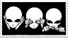 Stamp - Hear, See, Speak No Evil by ArandomVelociraptor