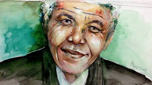 Portrait of Nelson Mandela by young920