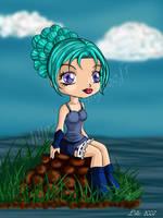 Girl blue by Kaelmo