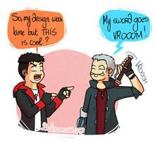 Dante vs Nero: short hair battle by Dulcamarra