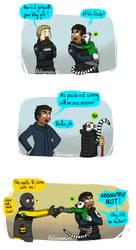 Doc and his pet lemur by Dulcamarra