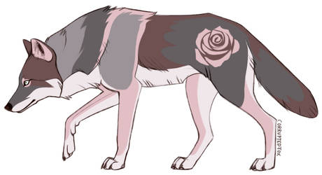 Rose Wolf by CorruptedFox