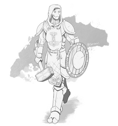/tg/-Warforged Cleric of Thor by oprichniki1