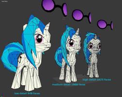 Vinyl Scratch Papercrafts - low medium high detail by Znegil