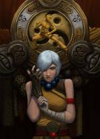 Prepare for death (Diablo female monk) by foreest83