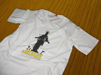 Jesus Necromancer T-Shirt Design - Mockup by Spiral-0ut