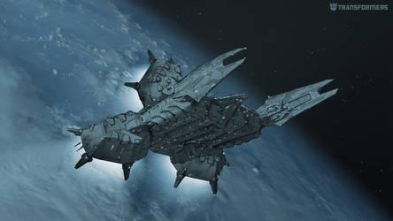 Decepticon Prison Transport Concept 1.3a by orangehexagon