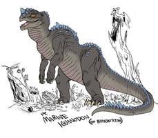 Marine Iguanodon by Rixshaw