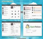 Openfetion Mockups by rikulu