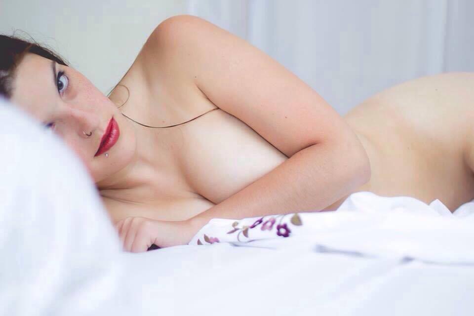 White bed by AyunCelebelen