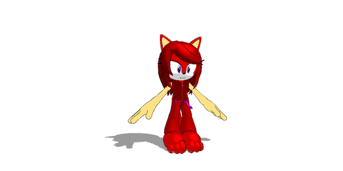 Ruby the RedFox MMD for Mitchika by jetknight