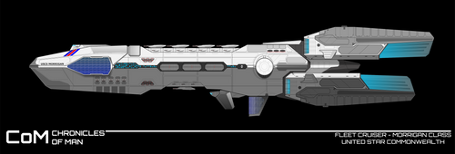 CoM : Morrigan class / Fleet cruiser by breizh87