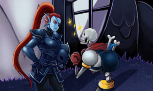 Undyne and Papyrus by cubu3