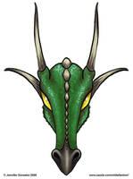 Baphomet Draconis - green by whitefantom