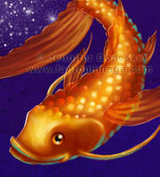 A Koi Among the Stars - detail by whitefantom