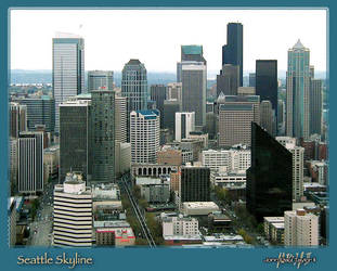 Seattle Skyline -jpt2- by psych0phobia