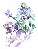 Skeletor and Panthor by JAWart728