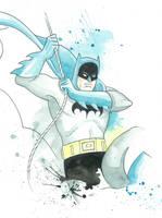 Golden Age Batman Watercolor by JAWart728