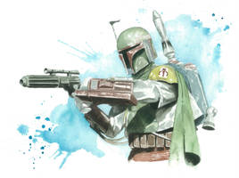 Star Wars Watercolor Print: Boba Fett by JAWart728