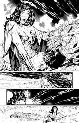 Superman-Wonder Woman #7 pg. 3 Inks by afowlerart