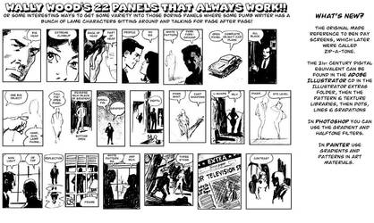 22 Panels That Always Work, by Wally Wood by afowlerart