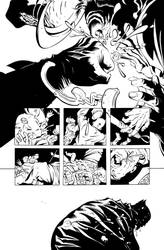 Dark Knight III: The Master Race #1, Pg. 25 Inks by afowlerart