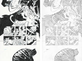 Dark Knight III #1, Pg. 25 (Comparison) by afowlerart