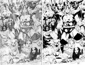 Thor:Tales of Asgard #2 (Comparison) by afowlerart