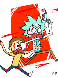 MORTY AND RICK by Biskibi