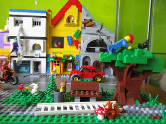 LEGO city moc 2 little park by kabhes