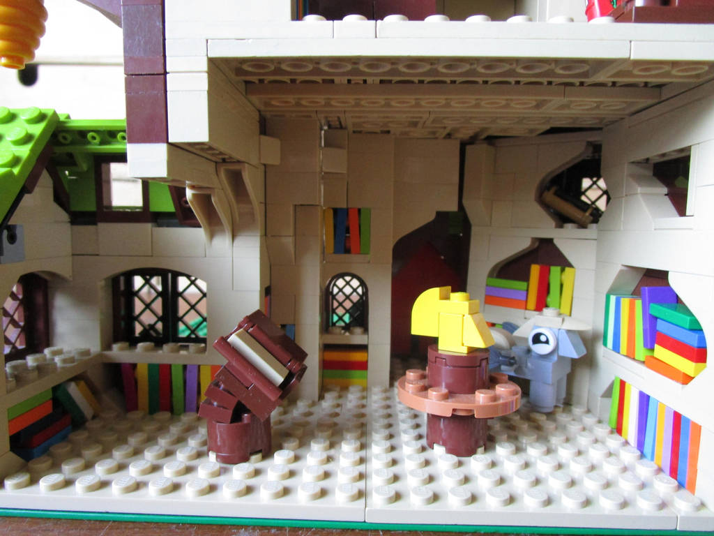 Lego MOC golden oak library mlp fim first floor by kabhes